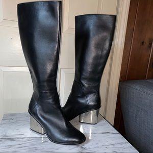 Aldo Silver Heel Boots